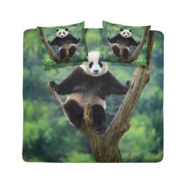 Dekbedovertrek Damai panda green