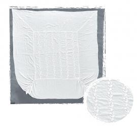 Arte Pura dekbedovertrek Fresco  linnen 270x270 cm met CO kant