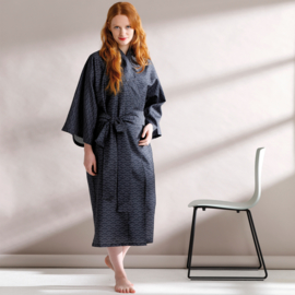 Seahorse Matcha kimono indigo katoen satijn Maat M