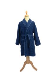Kinderbadjas badstof A&R kleur french navy maat 116  t/m 164