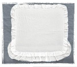 Arte Pura sprei/plaid Magia linnen 270x270 cm met of zonder kantrand