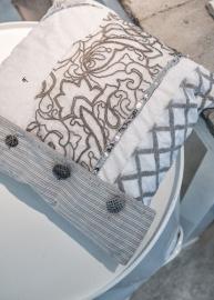 Arte pura sierkussenhoes taupe/grijs 40x40 cm