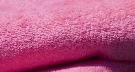 Badstof badjas A&R met capuchon 100% katoen pink XXS t/m XXXL