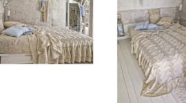 Arte Pura sprei Sorgente linnen met borduurwerk 270x270 cm meerdere kleuren