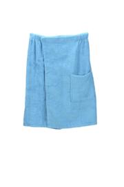 A&R heren saunakilt badstof verstelbaar met klitteband kleur aqua