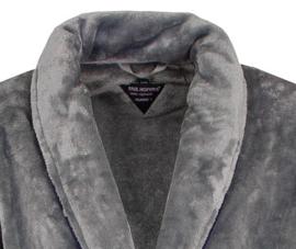 Paul Hopkins heren badjas grijs coral fleece