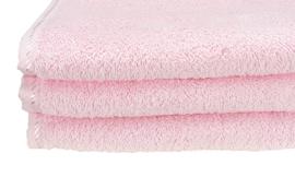 Handdoek A&R 50x100 cm light pink set 3 stuks