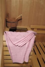 A&R saunalaken 100x210 cm light pink badstof