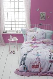 Dekbedovertrek Cinderella: ballerina kleur pink  1 persoons