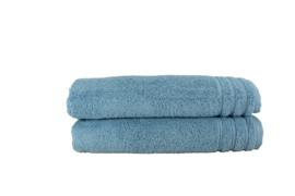A&R handdoek organic 60x110 cm kleur blauw set van 2 stuks