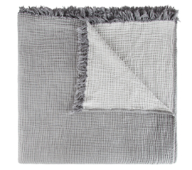 House in Style plaid Santorini double face dark grey/ light grey 200x240 cm