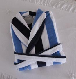 Elias badjas katoen velours navy/blauw/wit gestreept S t/m XL