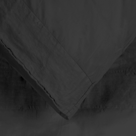 Dekbedovertrek House in Style Como katoen satijn wit, off black, light powder