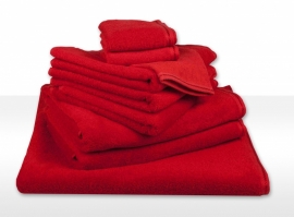 Handdoek A&R 50x100 cm rood set 3 stuks
