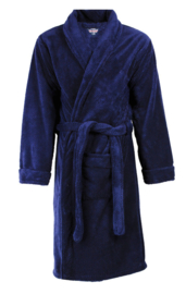 Badjas Paul Hopkins coral fleece  met stans effect kleur peacoat (navy)