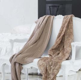 Arte Pura plaid Abaco katoenen jersey leverbaar in verschillende kleuren 140x190 cm