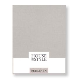 House in Style hoeslaken Bilbao katoen percal kleur cloudy grey
