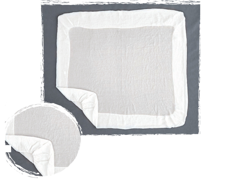 Arte Pura hoeslaken 100% linnen 90x200 cm kleur wit
