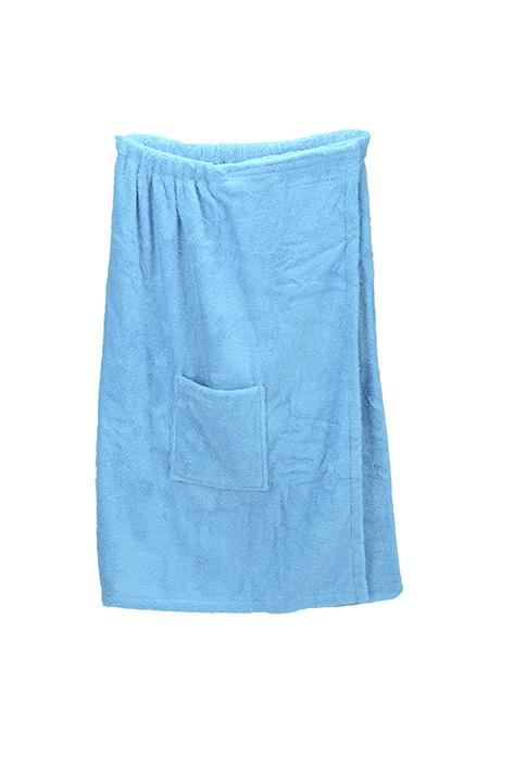 A&R dames saunakilt badstof verstelbaar met klitteband kleur aqua
