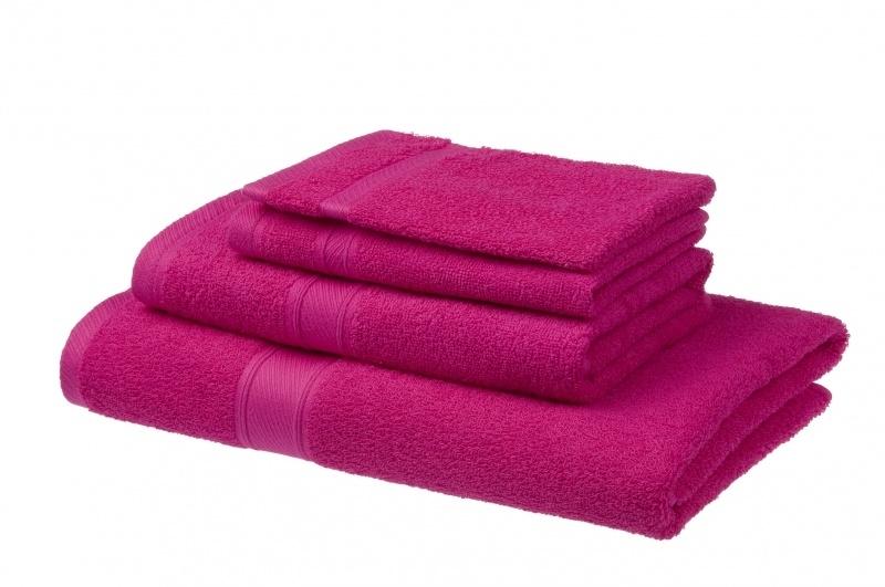Handdoek Jorzolino hot pink 50x100 cm