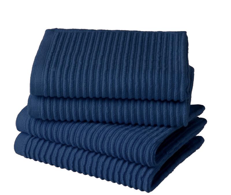 Vaatdoek Elias solid blue