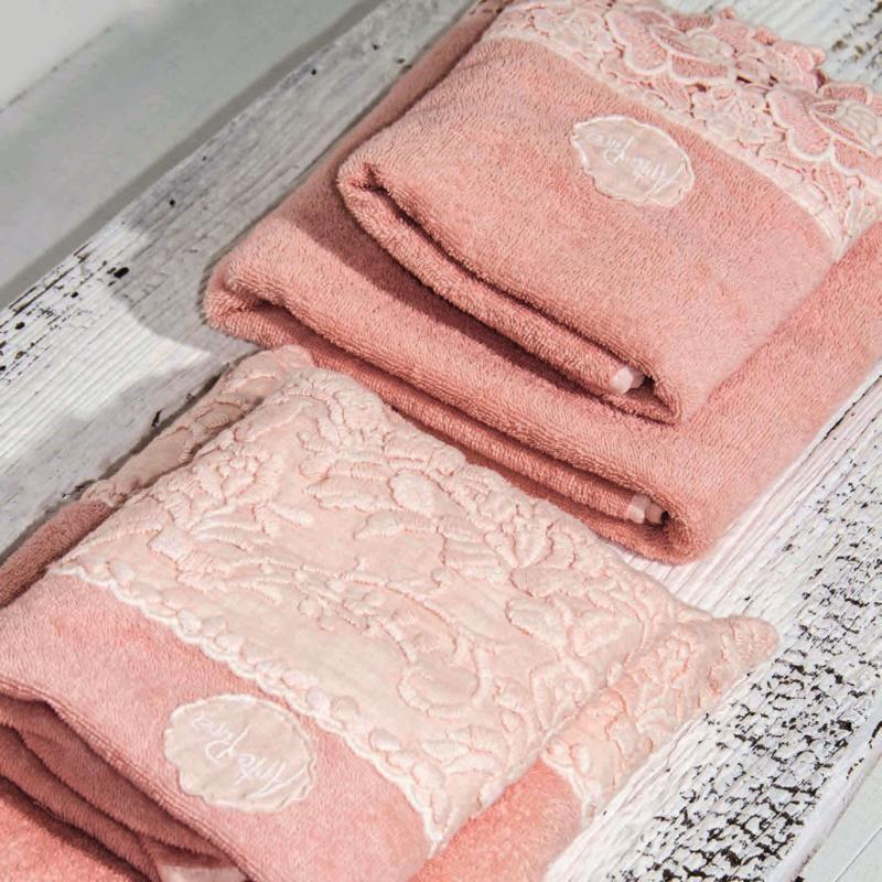 Arte Pura Arpa badlaken 100x140 cm met RP kant leverbaar in meerdere kleuren
