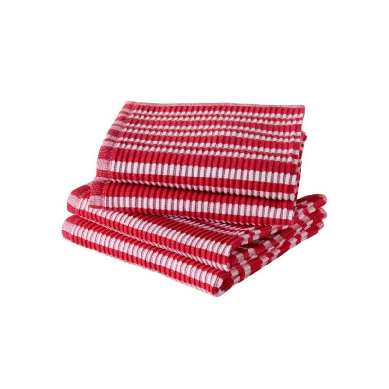 Vaatdoek Jorzolino rood/wit gestreept
