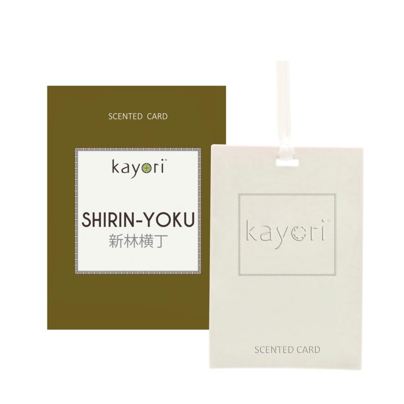 Kayori Scented card ShirinYoku 2 st.