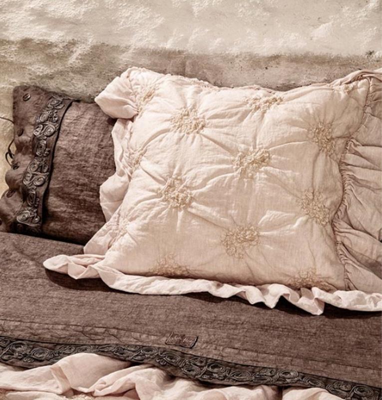 Arte Pura kussenhoes Conchiglia 100% linnen verschillende kleuren leverbaar