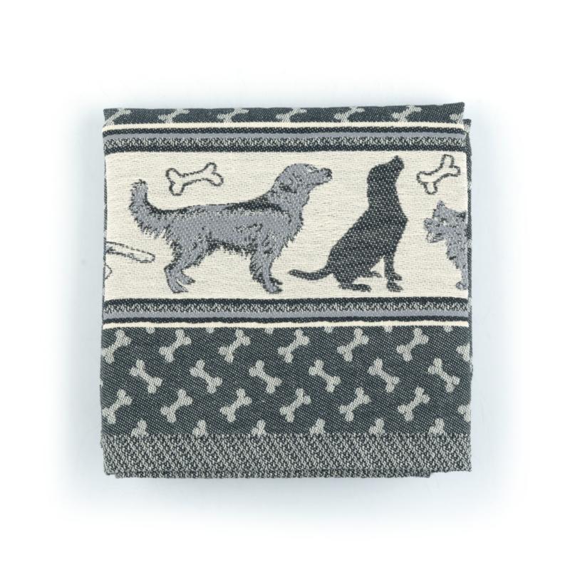 Keukendoek (handdoek) Bunzlau Castle Hond zwart