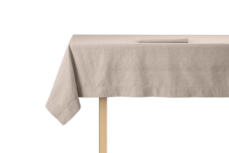 Tafelkleed ontbijtlaken Elias Noble 160x250 cm of 160x350 cm, beige half linnen