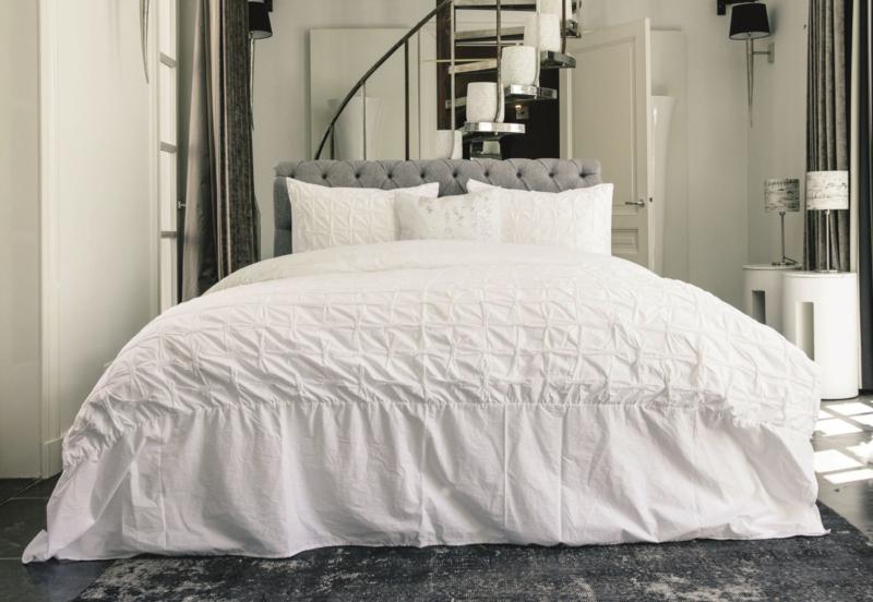 Heckett & Lane dekbedovertrek  Mollina katoen percal lits-jum 240x200-220 cm