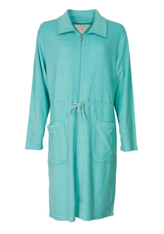 Tenderness badjas met rits kleur capri S t/m XXL