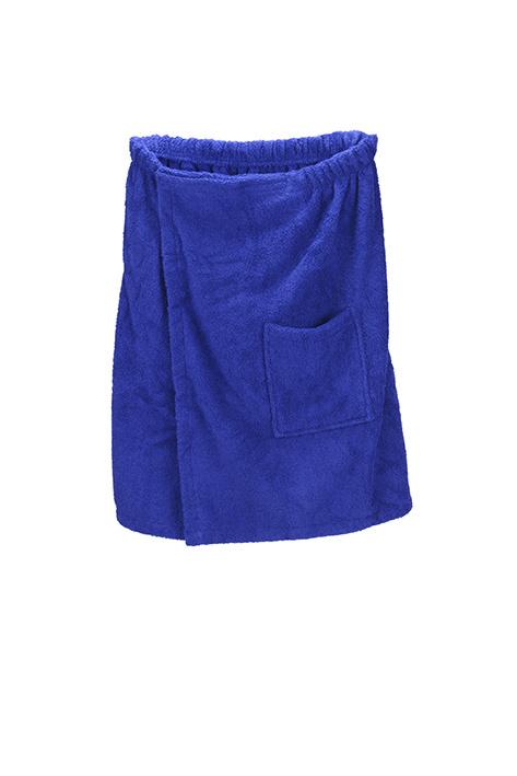 A&R heren saunakilt badstof verstelbaar met klitteband kleur true blue