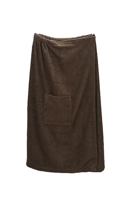 A&R dames saunakilt badstof verstelbaar met klitteband kleur black