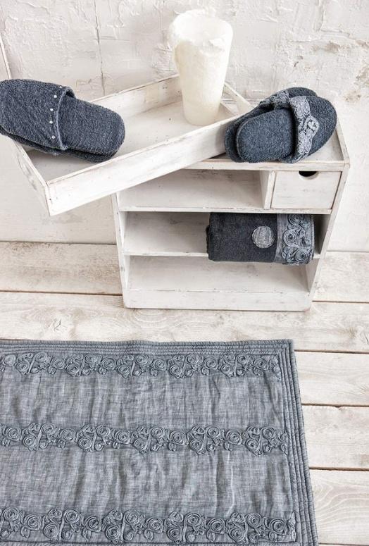 Arte Pura badmat 60x90 cm met CO kant leverbaar in meerdere kleuren