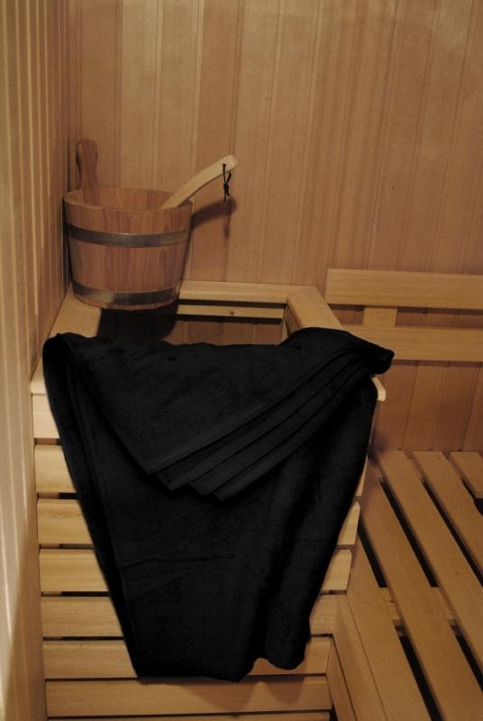 A&R saunalaken 100x210 cm zwart badstof