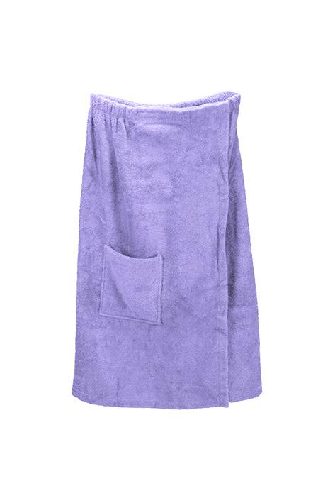 A&R dames saunakilt badstof verstelbaar met klitteband kleur light purple