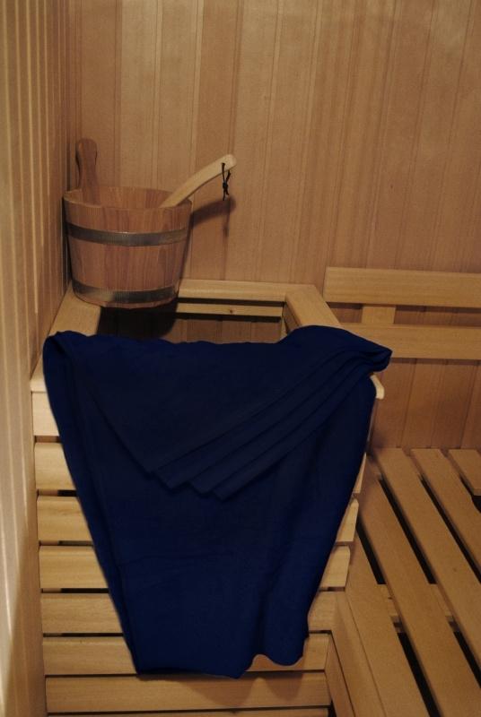 A&R saunalaken 100x210 cm  french navy badstof