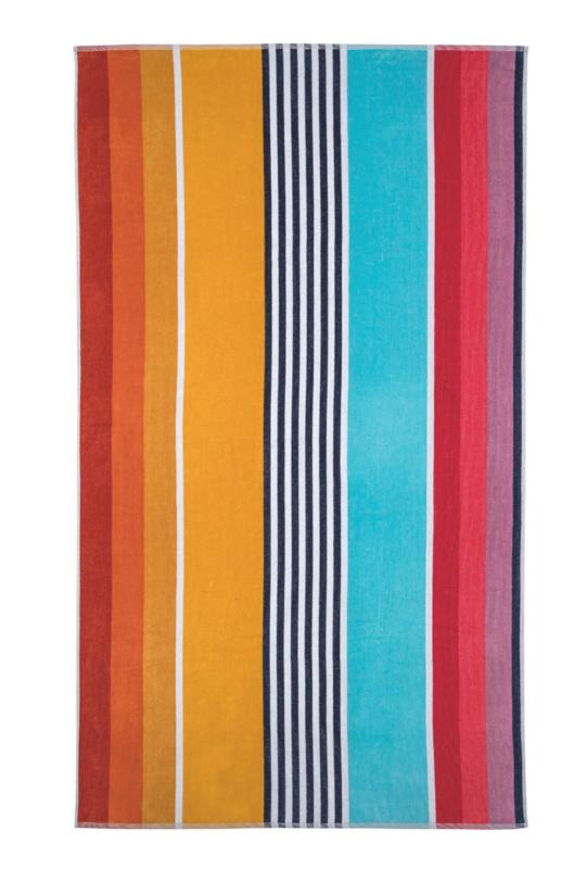 Arkhipelagos strandlaken Colourful Stripes kleur multi 100x180 cm