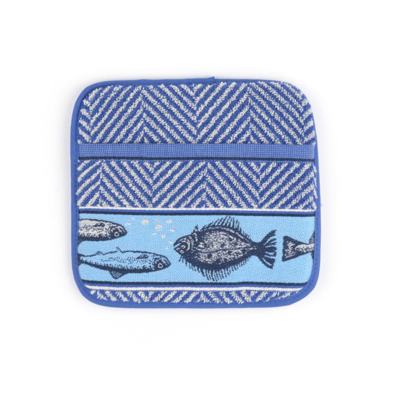 Pannenlappen Bunzlau Castle Fish royal blue
