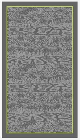 Strandlaken  Arkhipelagos Python grijs 100x180 cm