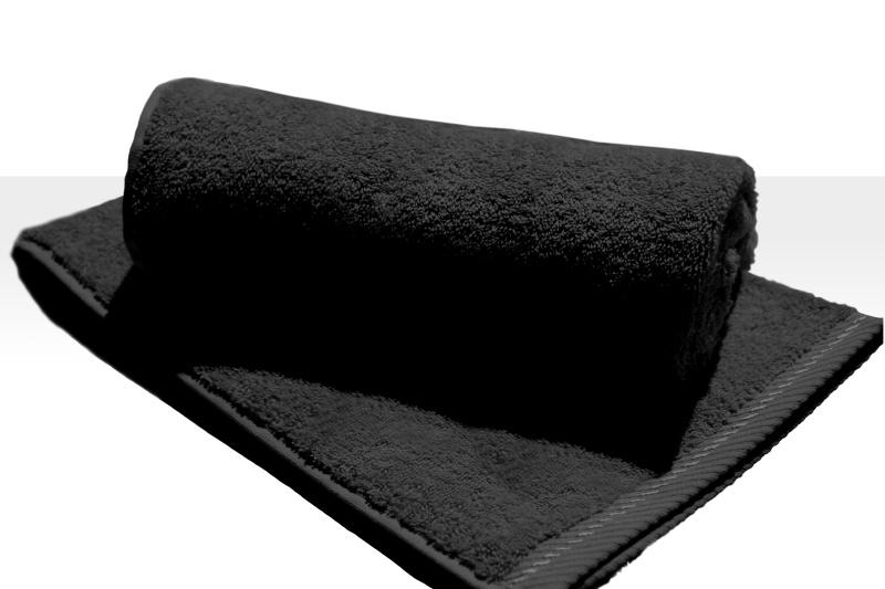 Strandlaken A&R 100x180 cm zwart  badstof
