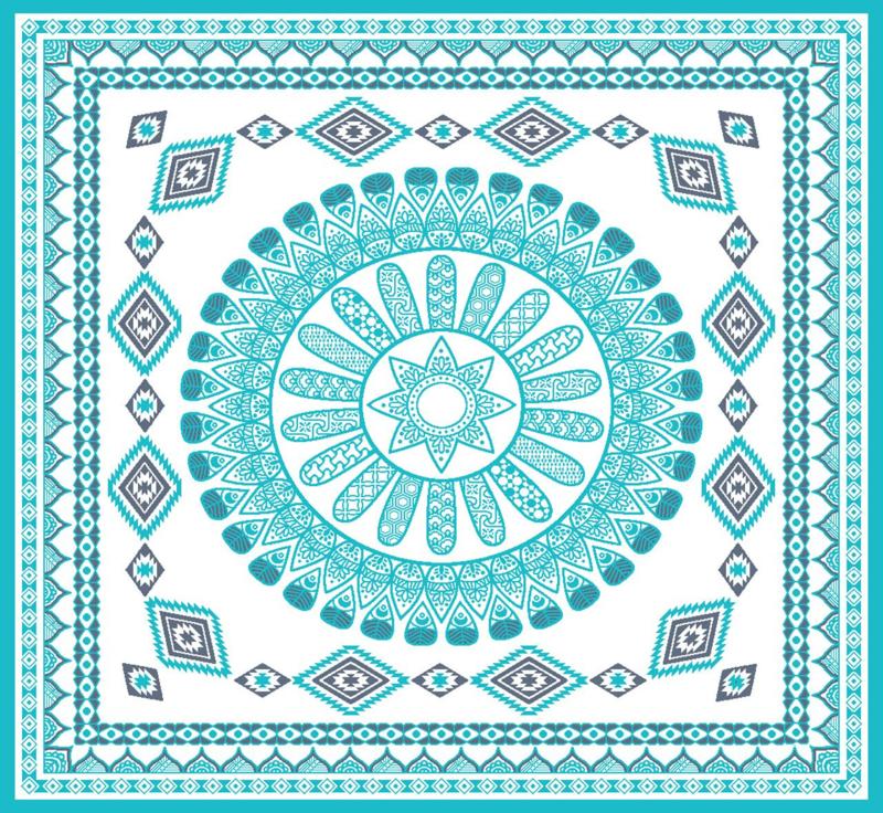 2 Persoons Strandlaken.2 Persoons Strandlaken For All 180x180 Cm Kleur Blauw Inclusief