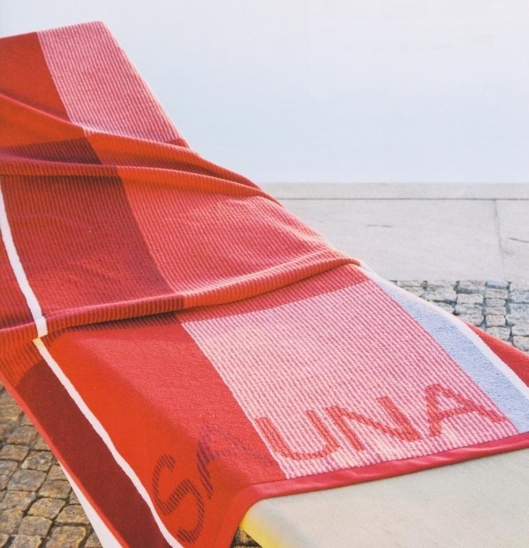 Saunalaken Kleinmann 90x200 cm rood Art 117 211
