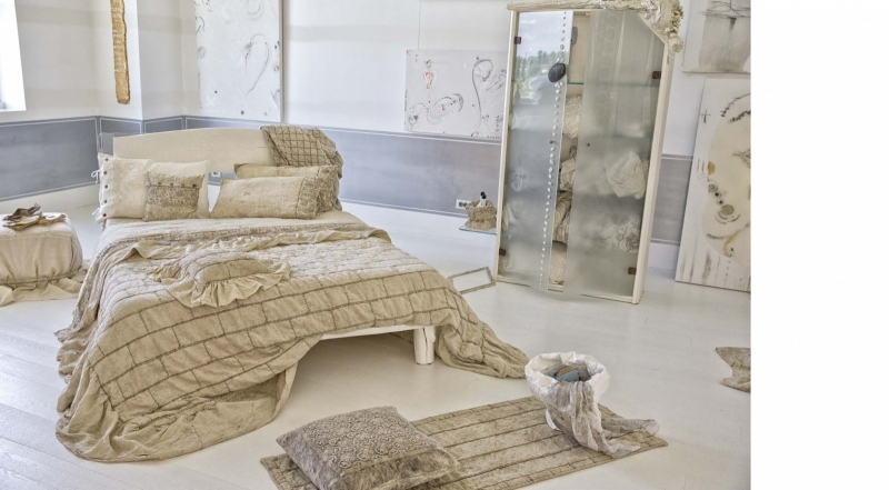 Arte Pura sprei/plaid Cerfoglio 100% linnen diverse kleuren leverbaar