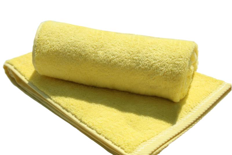 A&R strandlaken badstof 100x210 cm geel badstof