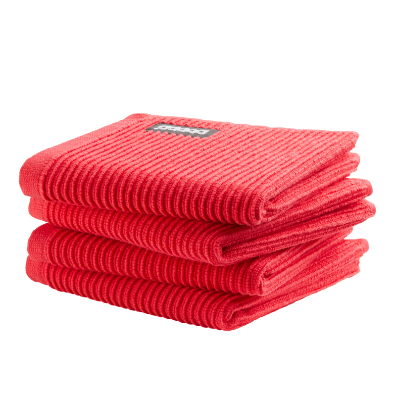 Vaatdoek DDDDD basic clean classic red