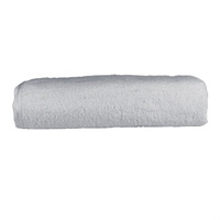 A&R strandlaken badstof 100x210 cm licht grijs badstof