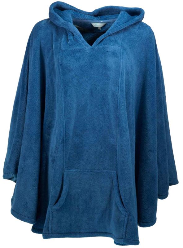 Poncho Iresistible blauw coral fleece